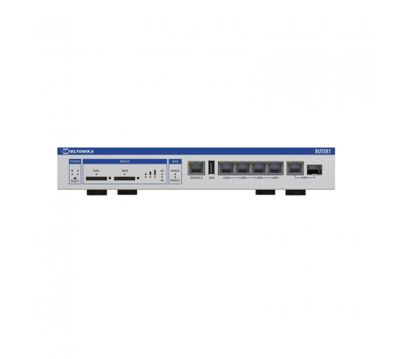 Teltonika RUTXR1 LTE CAT6 Cellular Industrie 19 rack-mountable Router with Dual SIM Slot