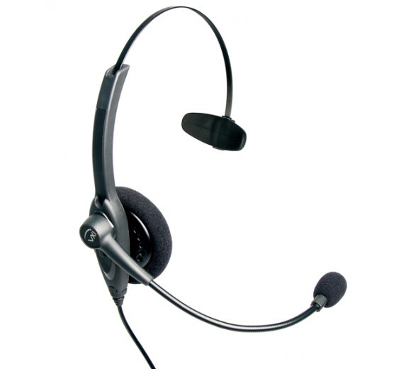 VXI Passport 10V DC (Direct Connect), Over-the-head monaural headset with noise canceling microphone-Direct Connect (201814)