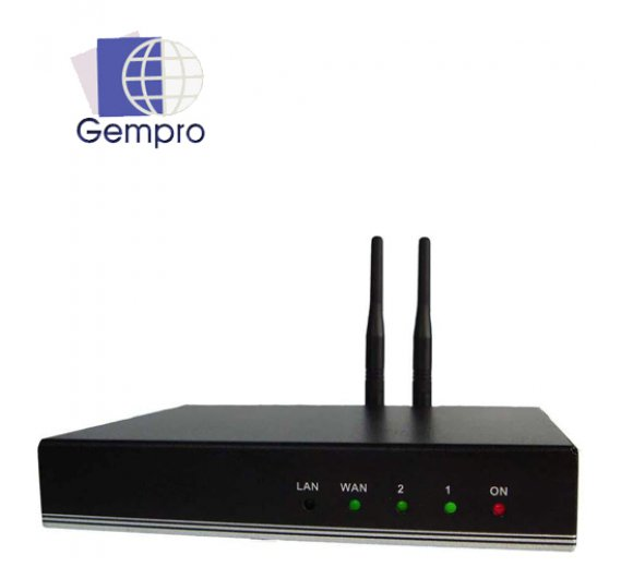 Gempro GP-712A Bluetooth VoIP Gateway (SIP) with 2 Port compatible with 3CX, Asterisk and more