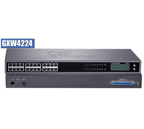 Grandstream GXW4224 FXS Analog VoIP Gateway with 24 telephone FXS ports with both RJ11 and 50-pin Telco connectors