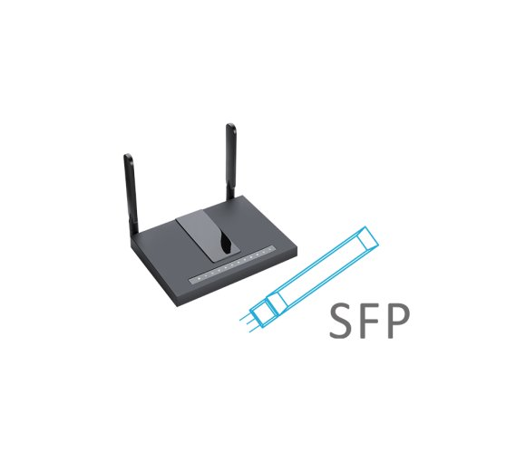 Flyingvoice FWR7302 4G-LTE Dual-Band WLAN AC Router, Gigabit, VoIP (2 Analog FXS - T.38 / T.30  fax), SFP Port, USB