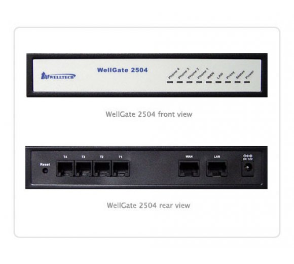 Welltech WellGate 2504A  with PoE on WAN - 4 port FXS...