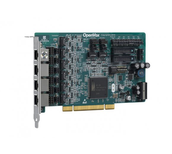 OpenVox B800P 8-Port ISDN BRI PCI Card with Built-in Power *Asterisk Ready; BRI Cologne Chip