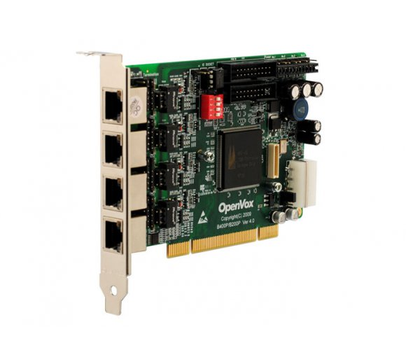 OpenVox B400P 4-Port ISDN BRI PCI Card with Built-in Power *Asterisk Ready; BRI Cologne Chip