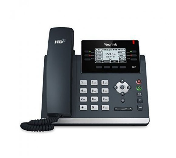 Yealink SIP-T41P Ultra-elegant IP Phone, PoE, 6 SIP accounts *Returns - B-Stock / REFURBISHED / repackaged*