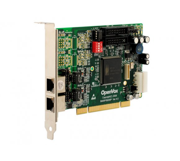 OpenVox B200P 2-Port ISDN BRI PCI Card with Built-in Power *Asterisk Ready; BRI Cologne Chip