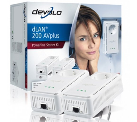 devolo - dLAN 200 AVplus Starter Kit, 2 Adapter
