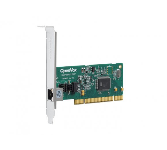 OpenVox B100P 1-Port ISDN BRI PCI Card with Built-in Power *Asterisk Ready; BRI Cologne Chip