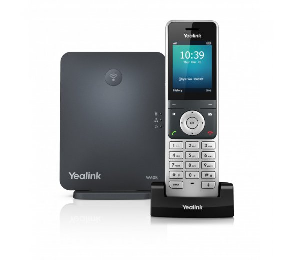 Yealink W60P (W60B Base + W56H Handset) IP DECT telephone up to max. 8 handsets and simultaneous calls
