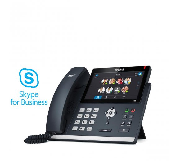 Yealink SIP-T48S Skype for Business IP Phone (7 anti-reflective Touchschreen, optional DECT/Bluetooth)