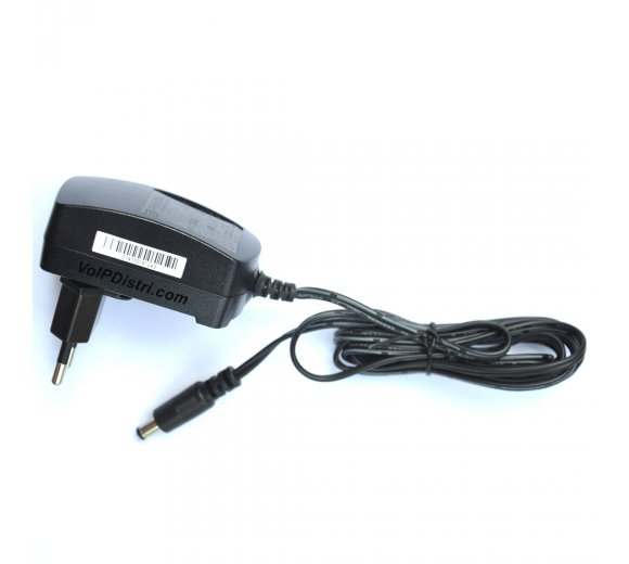+ 5V/2A EU Power Supply for Fanvil, Snom, Tiptel, YealinkIP phones, depending on the model - Optional: International AC clips
