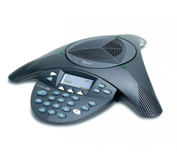 Polycom Soundstation 2 EX Analog conference phone with 2 additional microphones for meetings up to 30 people
