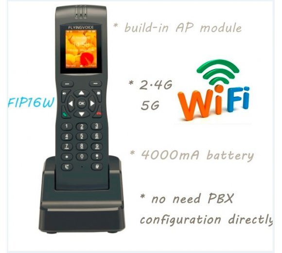 Flyingvoice FIP16 WiFi VoIP Phone (WLAN 802.11b/g/n/ac,WiFi Uplink, AP Mode)