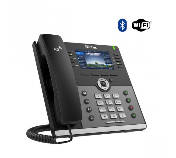 Htek UC926E WiFi/Bluetooth IP Telefon, Gigabit, HD Voice, 3CX Auto Provisioning