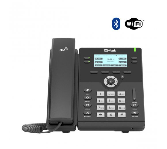 Htek UC912E WLAN/Bluetooth IP Telefon, HD Voice, 3CX Auto...