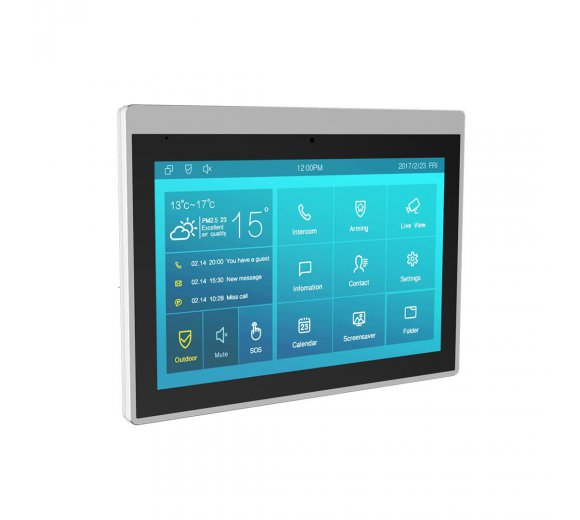 Akuvox IT83R Smart Android Indoor Monitor (10 Inch Touchscreen, Audio and Video), PoE, Android based, Alexa Integration