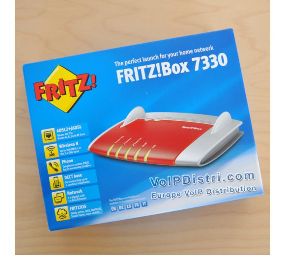 AVM FRITZ!Box 7330 International, ADSL2+/ADSL Modem for Annex A or Annex B, Router operation at cable modem or with UMTS/HSPA stick (Part-No. 20002545)