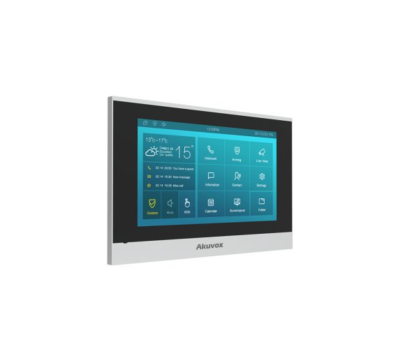 Akuvox C315S Low-cost Android Indoor Monitor (7 Touchscreen, Audio and Video)