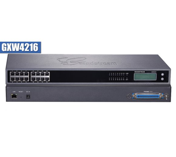 Grandstream GXW4216 FXS Analog VoIP Gateway with 16 telephone FXS ports with both RJ11 and 50-pin Telco connectors