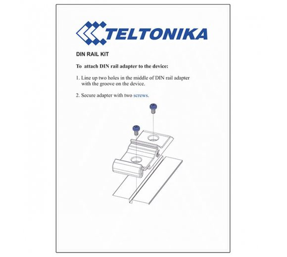 Teltonika RUT230 with DIN rail mounting - Industrie 3G/2G router (-40 °C to 75 °C), WLAN, OpenVPN, DynDNS