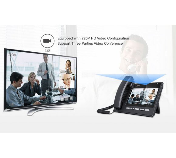 fanvil C600 Smart Video IP telephone with 7 Capacitor...