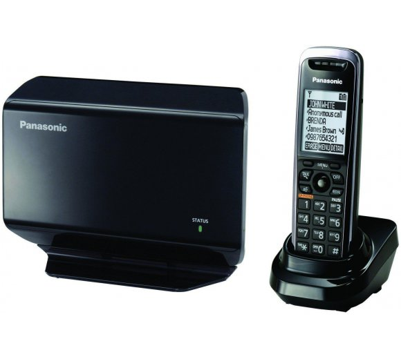 Panasonic KX-TGP500 (Base Unit + Cordless Handset), cordless VoIP DECT for professionals, multilingual menu