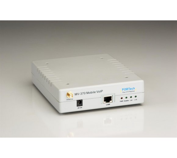 Portech MV-370G-3G GSM/WCDMA/UMTS/VoIP Gateway mit 1x SIM-Slot, 1x LAN-Port (Global Version: 3G 2G+3G 800/850/900/1900/2100MHZ)