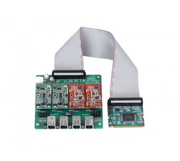 OpenVox A400M04 4 Port Analog Mini-PCI card + 4 FXO modules